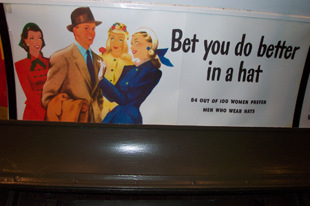 Vintage Subway Train Ad